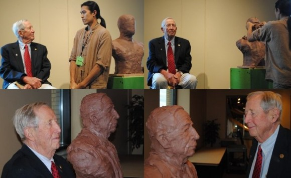 In only 24 minutes Sunti Quick Sculpts long time President of the Grand Rapids Public Museum Board, Steele Taylor, at Grand Rapids Public Museum, September 24, 2010.