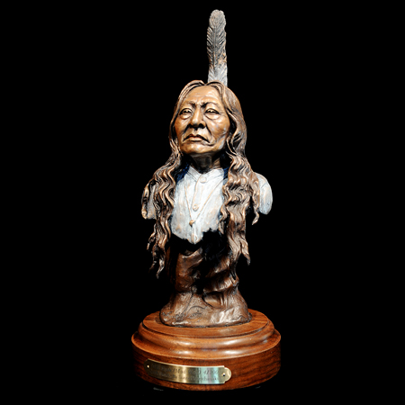 "Warrior Siyeh / Mad Wolf (Blackfeet) 15"" x 6"" x 5"""