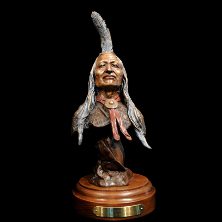 "Chief Washakie (Flathead / Shoshone) 15"" x 6 x 5"""